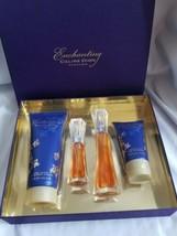 ENCHANTING By Celine Dion Spray EDT 1 oz/ Body Lotion/shower gel 4 Pc Gi... - $252.45