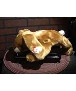 "Vintage - TY Beanie Buddy Plush - Ears the Brown Rabbit 14"" Teddy - 2000 - $8.85"