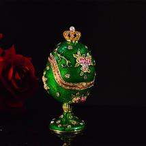 Handmade Faberge easter Egg craft ornament miniature home decoration cra... - $36.99