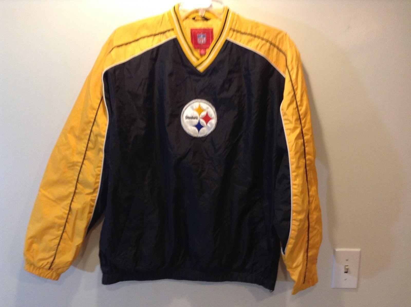 NFL Pittsburg Steelers Lined Windbreaker Sz Medium