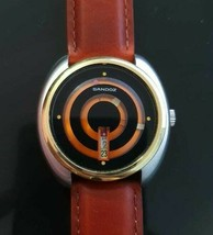 Very Rare Men's SANDOZ Mystery Orange Dial 25 Jewels Automatic Watch - M... - $359.63
