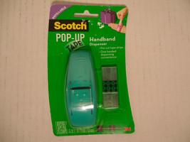 SCOTCH Pop-Up Tape HANDBAND Dispenser~ 1 TURQUOISE Dispenser And 1 Tape ... - $12.86
