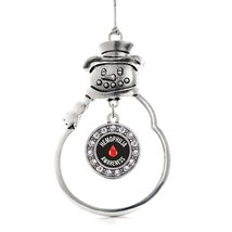 Inspired Silver Hemophilia Awareness Circle Snowman Holiday Christmas Tr... - $14.69
