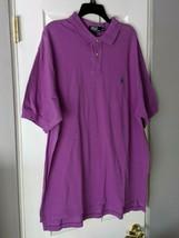 Authentic Polo Ralph Lauren Men' Shirt Top Purple Green Horse 2XL XXL Bi... - $15.95
