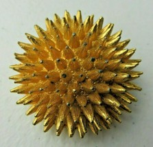 Vintage signed DENICOLA GOLD TONE ROUND SPIKEY!! pin brooch - $30.00