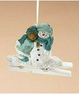 "Boyds Holiday ""Bear & Snowman"" Resin Clip Ornament- #257422-  New- Retired - $24.99"