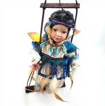 Cathay Collection Porcelain Native American Doll Ryanna Limited Edition ... - $74.24