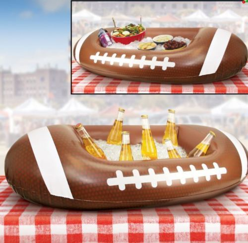Inflatable Football Shaped Cooler Entertain Outdoor Ice Chests Party Picnics New