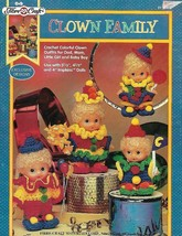 Fibre Craft CLOWN FAMILY 1994 FCM406 Crochet 4 Colorful Outfits for Impkins  - $4.94