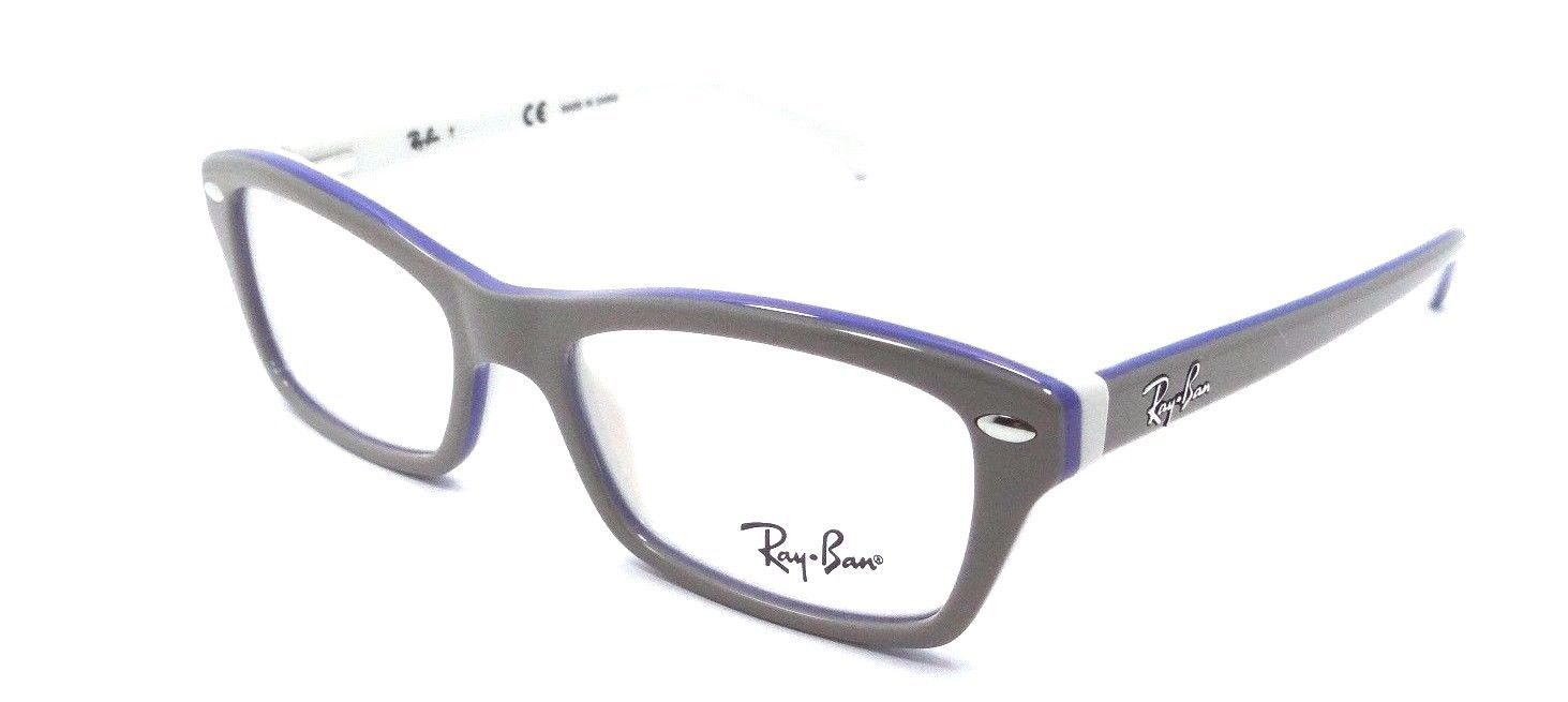 New Authentic Ray Ban Jr Rx Eyeglasses Frames 1550 3658 46x15 Grey / White Kids