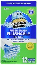 Scrubbing Bubbles 71102 12 Count, Fresh Brush Flushable Pad Refill - $17.98