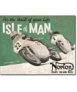 New Norton Motorcycles - Isle of Man Decorative Metal Tin Sign - $9.41