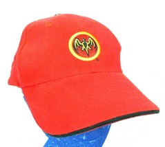 Barcardi Rum Red Baseball Cap Hat Bat Logo Box Ship - $11.99