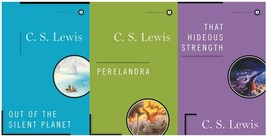 CS Lewis SPACE TRILOGY Sci Fi Series HARDCOVER Collection Set of Books 1-3 - $62.99