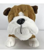 "Ganz Tan Bulldog 8"" Plush Stuffed Animal Toy Webkinz No Code - $14.84"