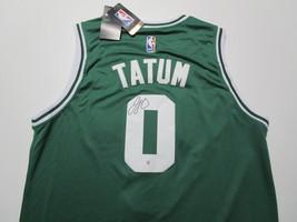 JAYSON TATUM / AUTOGRAPHED BOSTON CELTICS PRO STYLE BASKETBALL JERSEY / COA image 1