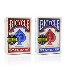 1 Deck  Bicycle Rider Back 808 Standard Poker Playing Cards Red or Blue New Box - $2.75