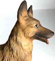 "German Shepherd Dog Capodimonte 8"" Vtg Belgian Malinois Italy Porcelain - $118.79"
