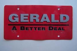Gerald Nissan License Plate Plastic Signage - $4.94