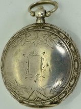 Antique Ottoman Army Pasha award silver pocket watch 1890.Fancy dial,Meh... - $990.00