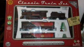 WOWTOYS 20pc Classic Train Set! Battery Operated Lights & Sounds Freight... - $55.69