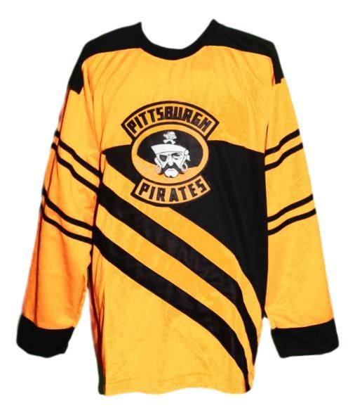 Custom Name # Pittsburgh Pirates Retro Hockey Jersey 1925 New Yellow Any Size
