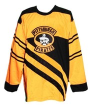 Custom Name # Pittsburgh Pirates Retro Hockey Jersey 1925 New Yellow Any Size image 1