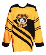 Custom Name # Pittsburgh Pirates Retro Hockey Jersey 1925 New Yellow Any... - $54.99+