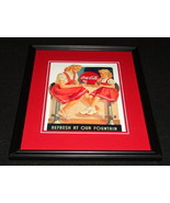 Vintage Coca Cola Refresh at Our Fountain Framed 11x14 Poster Official R... - $32.36