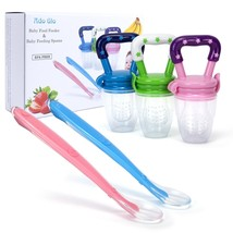 Ado Glo Baby Food Feeder - 3-Pack Fresh Fruit Feeder, Infant Teething To... - $14.99