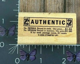 Stampin' Up! Authentic Tag Brand Rubber Stamp 2006 Vintage Clothing Wood... - $4.46