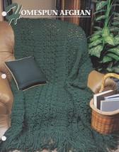 Homespun Afghan, Annie's Crochet Quilt & Afghan Pattern Club Leaflet QAC... - $2.95