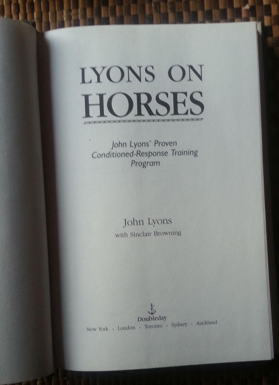 Lyons On Horses Training Program by John Lyons 1991 HBDJ