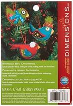 Dimensions Whimsical Bird Wool Felt Applique Ornaments Kit, 3 pcs - $9.24