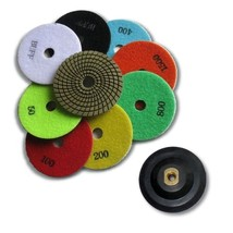 10 pcs Complete Set Premium Quality 4 inch WET Diamond Polishing Pads,4 mm Thick - $90.09