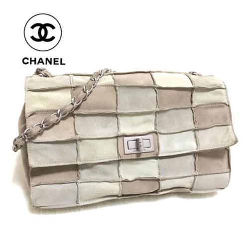 096bc245de75 Auth CHANEL Shoulder Bag Multi Matelasse Chocolate Bar Medium Suede B1801 -   628.16