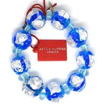 Bracelet Antica Murrina Venezia, Murano Glass, Spheres Large Light Blue image 2