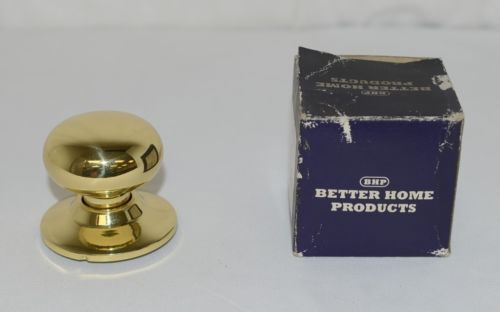 Better Home Products 72303PB Mushroom Knob Dummy Polished Brass