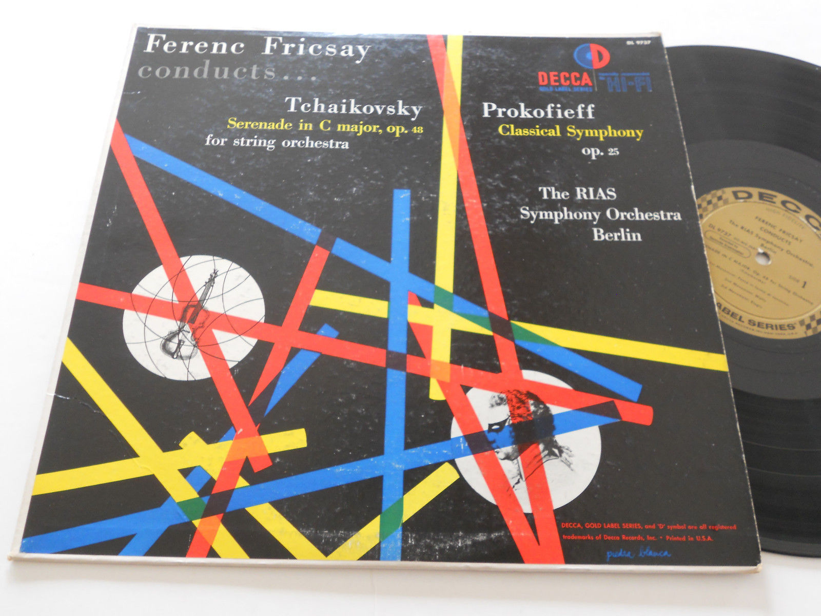 Primary image for PROKOFIEV TCHAIKOVSKY NM- Ferenc Fricsay Berlin Symphony Decca DL-9737 Mono