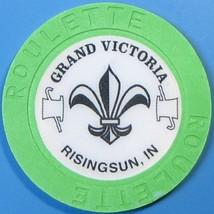 Roulette Casino Chip. Grand Victoria, Rising Sun, IN. Green. T41. - $4.29