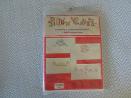2 Vogart DEAR HEARTS PILLOW CASES Stamped Cross Stitch KIT #8020D - SEALED - $12.00