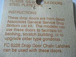 Detail Associates # 6225 GS Gondola Doors Steel Plate Type HO-Scale image 3