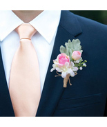 Handmade Groom Corsage,pink Simulation flower corsages, DIY wedding bout... - $25.00