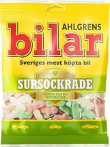 Ahlgrens Bilar Sursockrade- Soft Chewy Candy Cars- 1 pack - 100g - Swedish Candy - $7.92