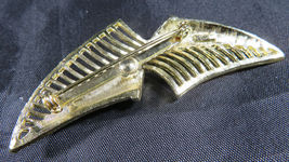 "Vintage Fashion Jewelry Lady Leaf Coro Brooch Retro Gold Color 2""3/4 image 6"