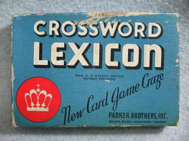 Vintage 1937 Parker Brothers Crossword Lexicon Card Game Rules & Brochure - $13.56