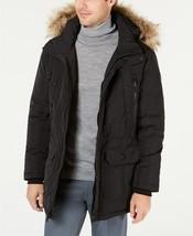 Calvin Klein CM926185 Men Black Hood Faux Fur Long Snorkel Parka Jacket ... - $149.99