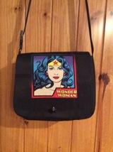 """""""Wonder Women on Black  with adjustable strap Shoulder Bag Washable, Dur... - $62.08 CAD"""
