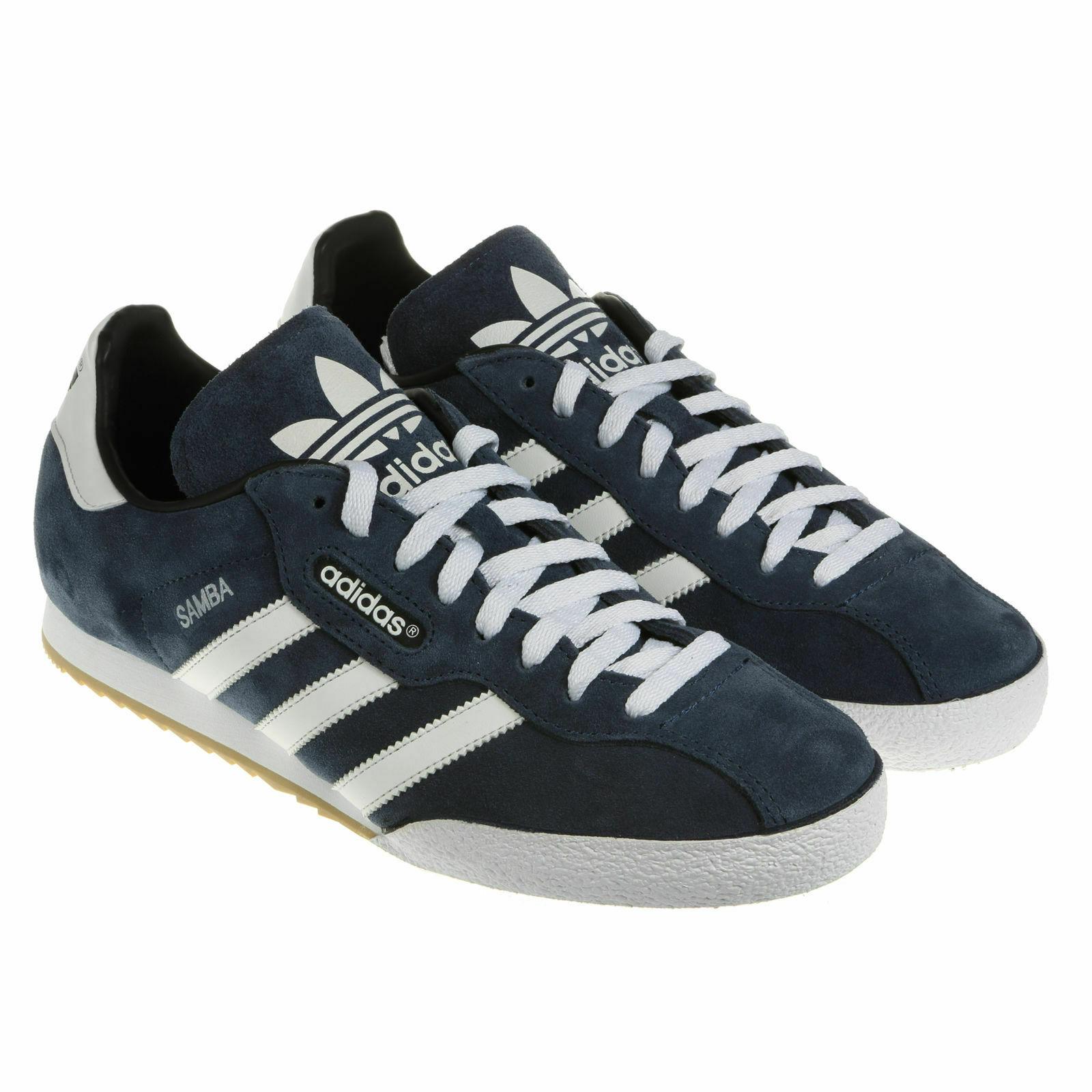 Adidas Original Samba Super Veloursleder Herren Turnschuhe Leder - Marineblau