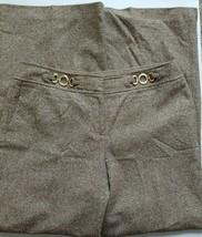 Ann Taylor Lindsay Dress Pants Size 10 Beige Brown Wool Work Slacks Trou... - $21.78